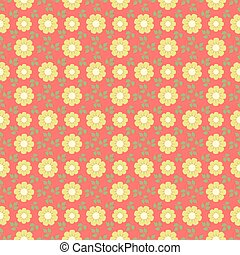 Abstract seamless pattern with flowers.