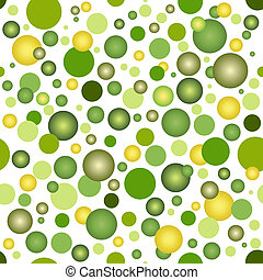 Abstract seamless pattern with green bubbles