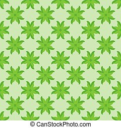 Abstract seamless pattern with green leaves