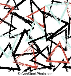 Abstract seamless pattern with grunge triangles