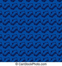 abstract seamless pattern with isometric arrows