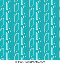 abstract seamless pattern with isometric book signs