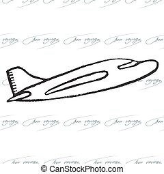 Abstract seamless pattern with plane. Bon Voyage design
