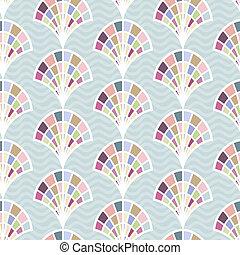 Abstract seamless pattern with shell