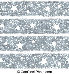 Abstract seamless pattern with silver glitter texture