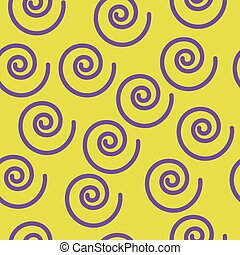 Abstract seamless pattern with spir