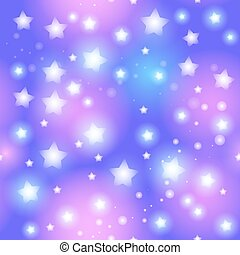 Abstract seamless pattern with star on blue background. Vector