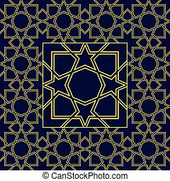 Abstract seamless patterns in Islamic style. Vector...