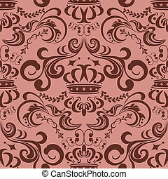 Abstract seamless pink pattern