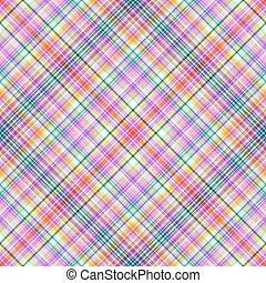 Abstract seamless rainbow tartan pattern (vector EPS 10)