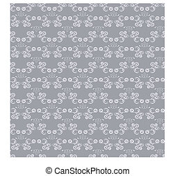 Abstract seamless silver pattern