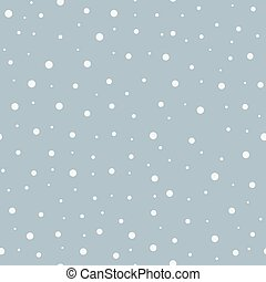 Abstract seamless snow winter vector background.