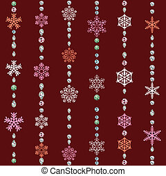 Abstract seamless snowflake pattern