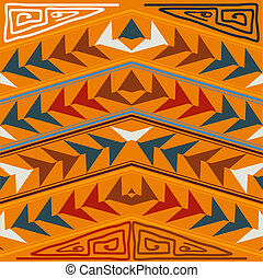 Abstract seamless texture in the tribal style. Vector illustrati