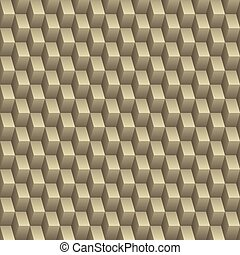 Abstract square tile seamless texture with 3d effect