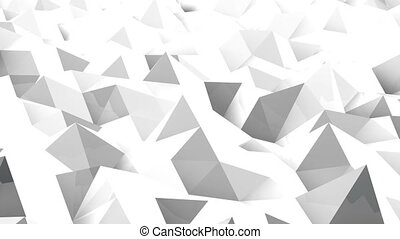 Abstract seamless triangular crystalline background