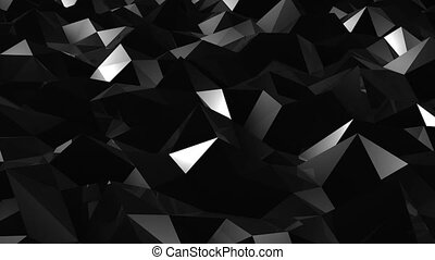 Abstract seamless triangular crystalline background...