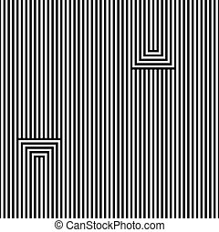 Abstract seamless vector pattern. Lines. Black, isolated on white background.