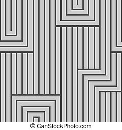 Abstract seamless vector pattern. Lines.   Gray, isolated on light gray background.