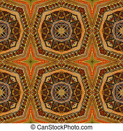 Abstract seamless vintage wooden pattern with carved structure