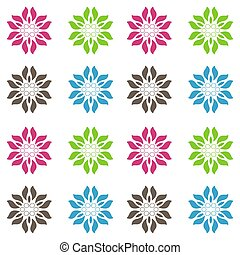 Abstract seamless vivid colored floral pattern background