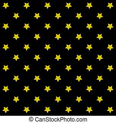 Abstract seamless wallpaper stars gold with black background Texture Vector illustration