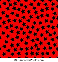 Abstract seamless wallpaper with stars black and red background Texture Vector illustration
