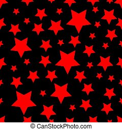 Abstract seamless wallpaper with stars red and black background Texture Vector illustration