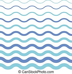 pattern on white background.. Blue light and dark wave pattern for fabric. Wave pattern template.