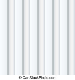 Abstract seamless white ribbed wall vector background.