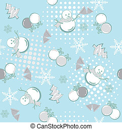 Abstract seamless winter pattern