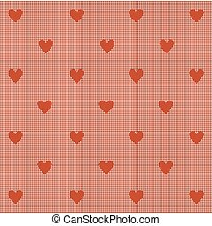 Abstract seamless with hearts.