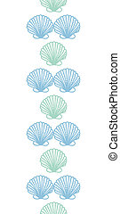 Abstract seashels stripes vertical seamless pattern background