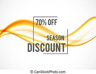 Abstract seasonal sale design background
