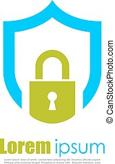 Abstract security logo