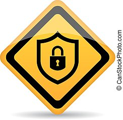 Abstract security sign