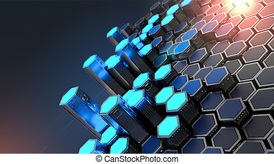 Abstract Security Technology Background - Abstract ...