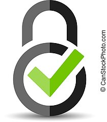 Abstract security vector logo