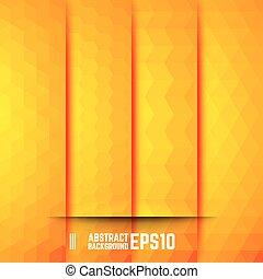 abstract, set, achtergronden, gele