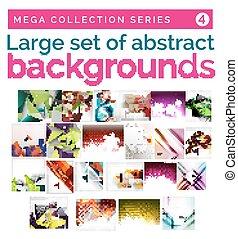 abstract, set, achtergronden, mega