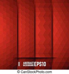 abstract, set, achtergronden, rood
