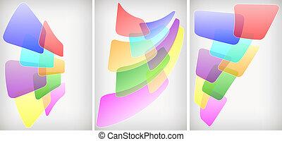 abstract, set, achtergronden