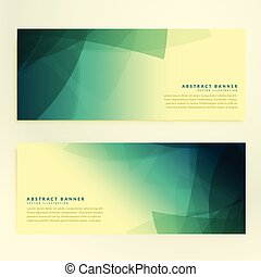 abstract set of banners with random shape