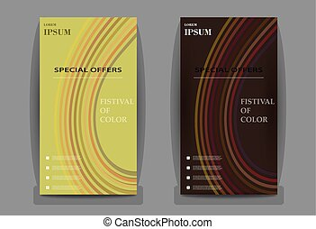 Abstract set of business card print template. Personal company card with company logo. Clean flat design. Vector illustration. Business card mockup