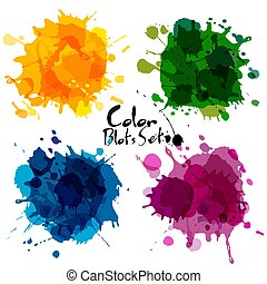 Abstract set of color blots.