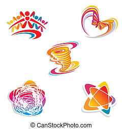 abstract set of design elements vector illustration