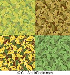 Abstract set of leaf patterns