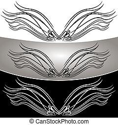abstract, set, vleugel, engel