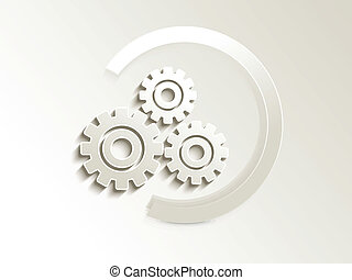 abstract settings button vector