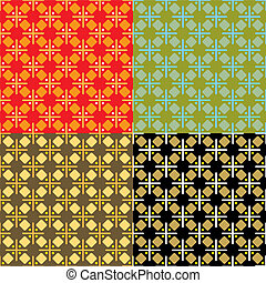 abstract seventies cross multi